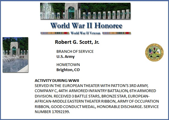 WWII Honoree